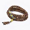 4-Loop Wrap Style Buddhist JewelryBJEW-T009-07-1