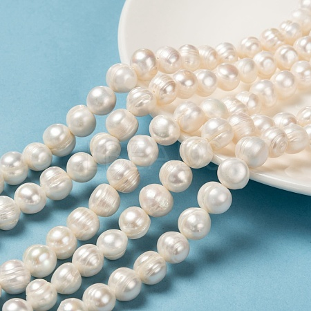 Grade B Natural Cultured Freshwater Pearl Beads StrandsX-PEAR-L001-G-14-1