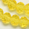 Handmade Imitate Austrian Crystal Faceted Rondelle Glass BeadsX-G02YI082-1