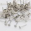 304 Stainless Steel Stud Earring FindingsSTAS-N019-17-4.5mm-2
