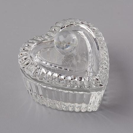 Heart Nail Art Glass Dappen DishX-MRMJ-WH0060-12-1