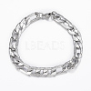 Trendy Men's 304 Stainless Steel Figaro Chain Necklaces and Bracelets Jewelry Sets SJEW-L186-03P-2
