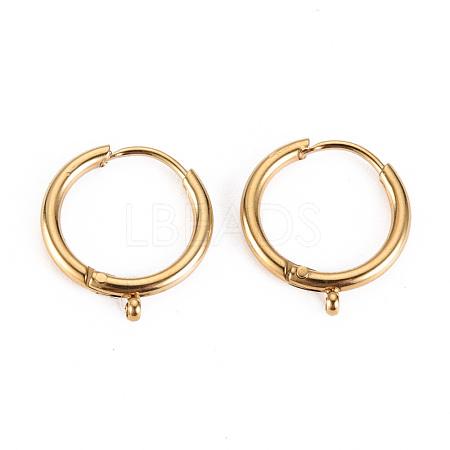 316 Surgical Stainless Steel Huggie Hoop Earring FindingsSTAS-S116-257B-G-1