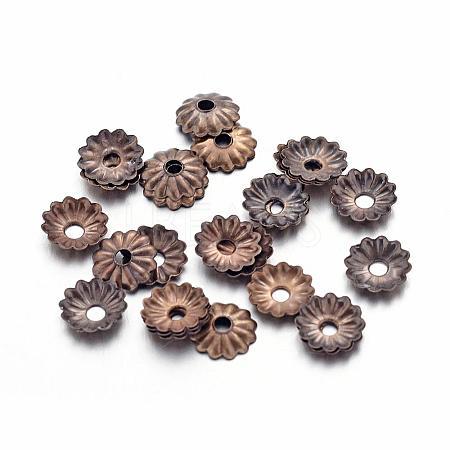 Antique Bronze Iron Flower Bead CapsX-IFIN-D023-AB-NF-1