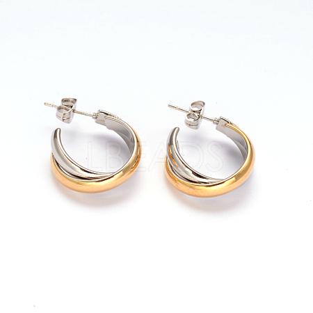 304 Stainless Steel Stud EarringsX-EJEW-O066-03M-1
