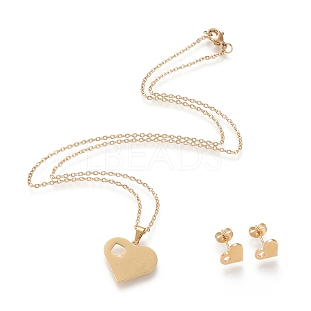 304 Stainless Steel Jewelry SetsSTAS-K196-16G-1
