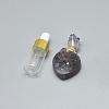 Natural Amethyst(Random Size) Openable Perfume Bottle PendantsG-E556-10A-1