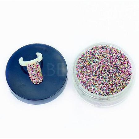 50g Rainbow Mixed Translucence DIY 3D Nail Art Decoration Mini Glass BeadsMRMJ-N001-01-1