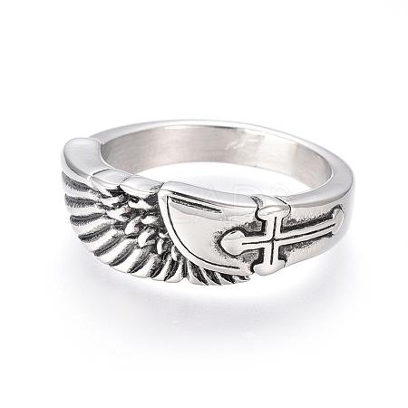 304 Stainless Steel Finger RingsRJEW-D073-26-AS-1