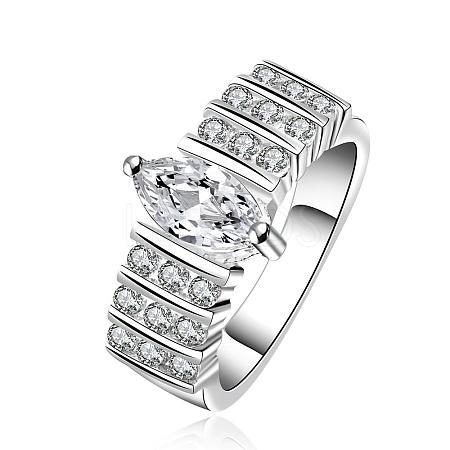 Trendy Brass Cubic Zirconia Finger RingsRJEW-BB08329-8S-1
