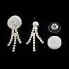Fashionable Wedding Rhinestone Necklace and Stud Earring Jewelry SetsSJEW-R046-10-8