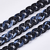 Acrylic Handmade Curb ChainsSACR-N006-02A-1