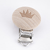 Beech Wood Baby Pacifier Holder ClipsWOOD-T015-30-1