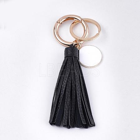 PU Leather Tassel KeychainKEYC-T004-07B-1