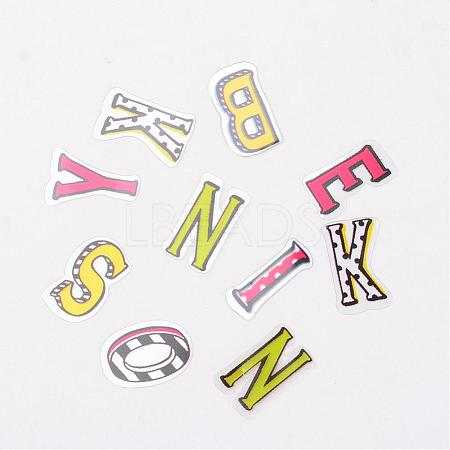 Letter DIY PVC Label Paster Picture StickersAJEW-L058-12-1