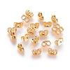 Real Gold Plating Brass Ear NutsX-KK-L147-214-NR-2