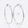 304 Stainless Steel Big Hoop Earrings EJEW-F105-06P-2